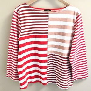 J Crew Patchwork Striped T-Shirt Size XL